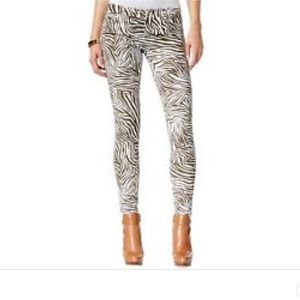 MICHAEL KORS Brown Animal Print Skinny Pants